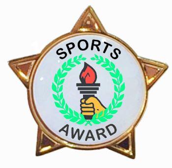 SPORTS AWARD star badge
